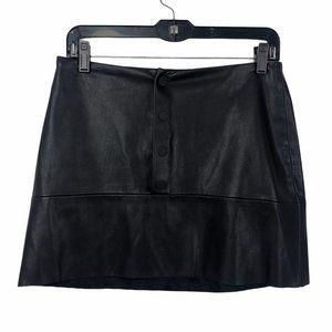 Zara Faux Leather Mini Skirt #82